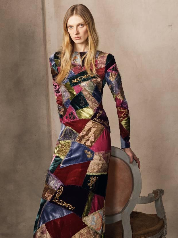 RalphLauren embroidered silk, schappe and viscose dress, £10,435
