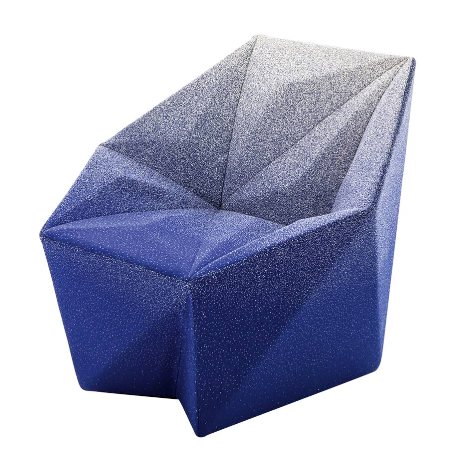 Moroso Gemma armchair (87cm x 101cm x 80cm) by Daniel Libeskind, in wool‑mix fabric by Marc Thorpe and fibreglass, made to order, price on request