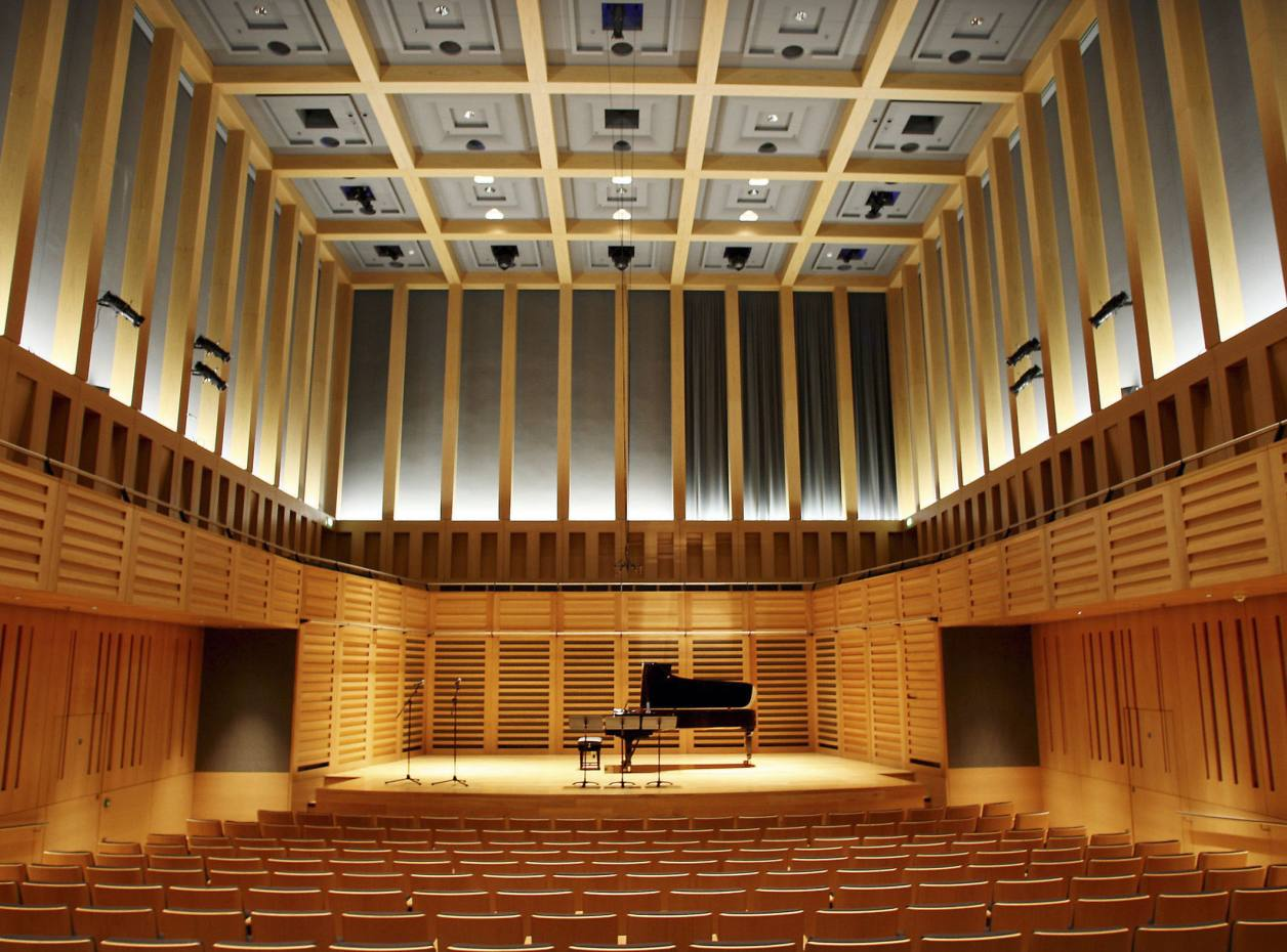 One of the concert halls at Kings Place in King's Cross, London