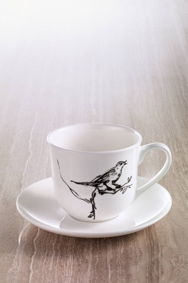 Small and Beautiful teacup and saucer, £25