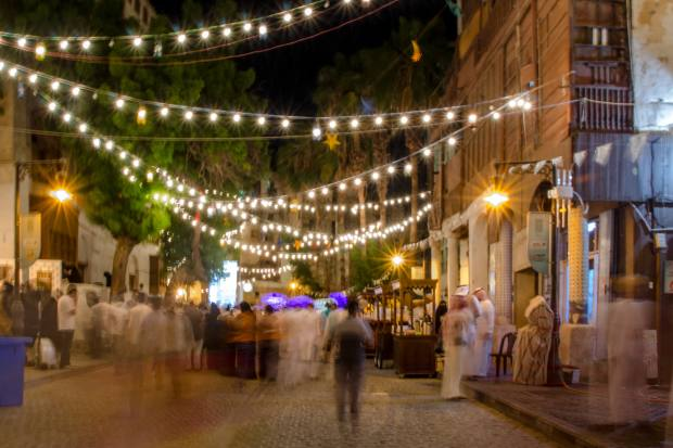 A vibrant street comes alive in Jeddah