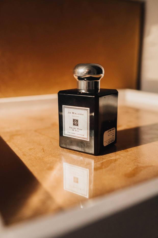 His grooming staple – JoMalone Velvet Rose & Oud Cologne Intense