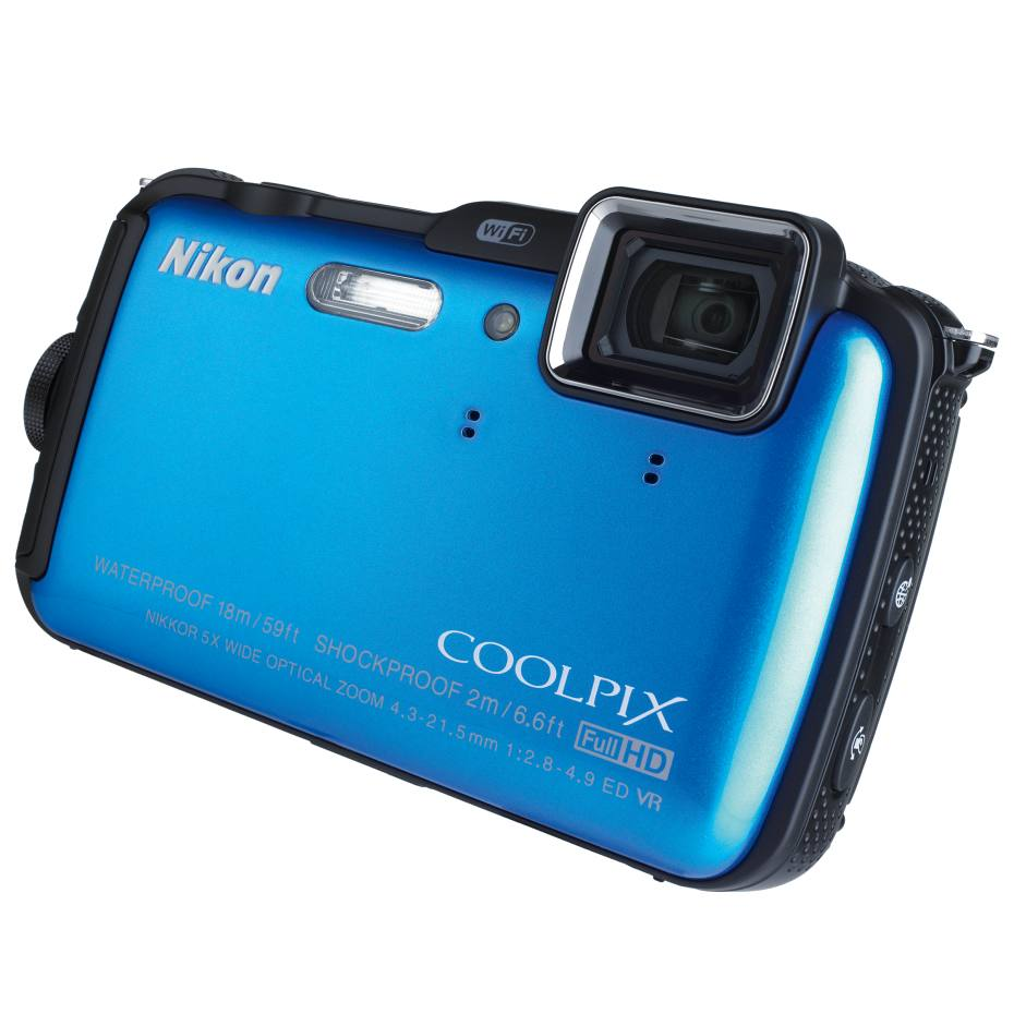 Nikon Coolpix AW120 16-megapixel camera, £330. Also in other colours