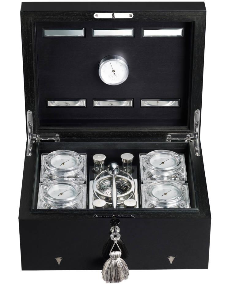 Asa Eriksson-Ahuja Saicho marquetry tea humidor, £9,950