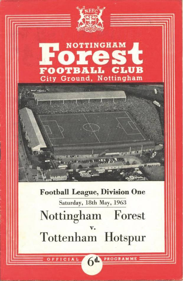 A football programme from the day Little was born