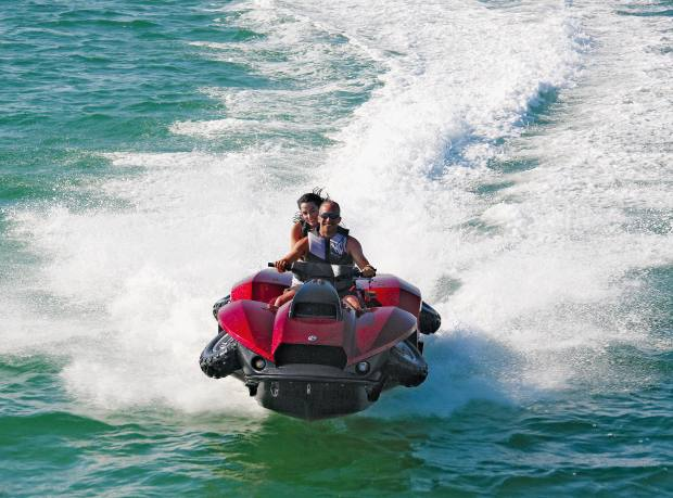 Gibbs Quadski with four retractable wheels, from $40,000