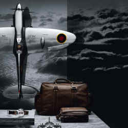 IWC radio-controlled Spitfire, about £23,122; holdall, about £1,245; on-board bag, about £978; Pilot Spitfire watch, £6,750.