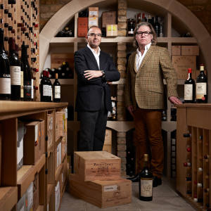 Nick Martin (left), founder and executive director of Wine Owners, and Stephen Maunder, CEO of Cavex
