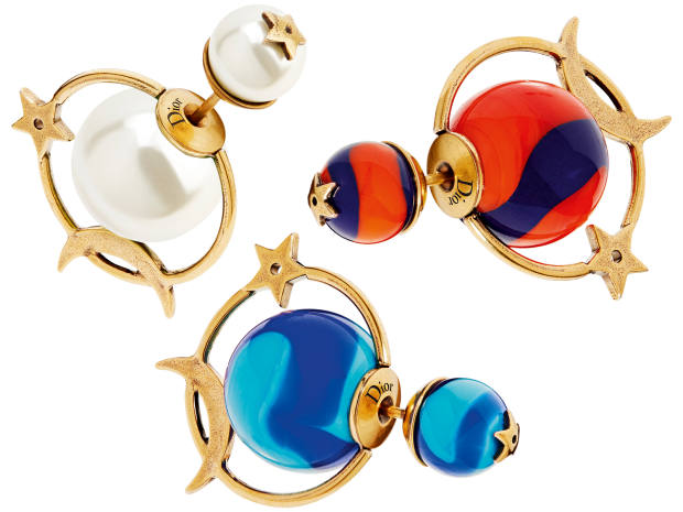 Dior brass andresin- or glass-bead Tribales earrings, £290