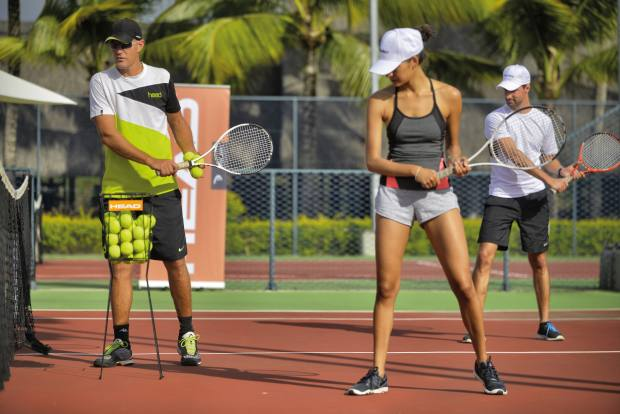 Coaching will include serving, groundstrokes and net play clinics