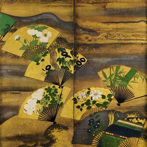 One of a pair of 17th-century Japanese screens sold for £140,000 by Gregg Baker