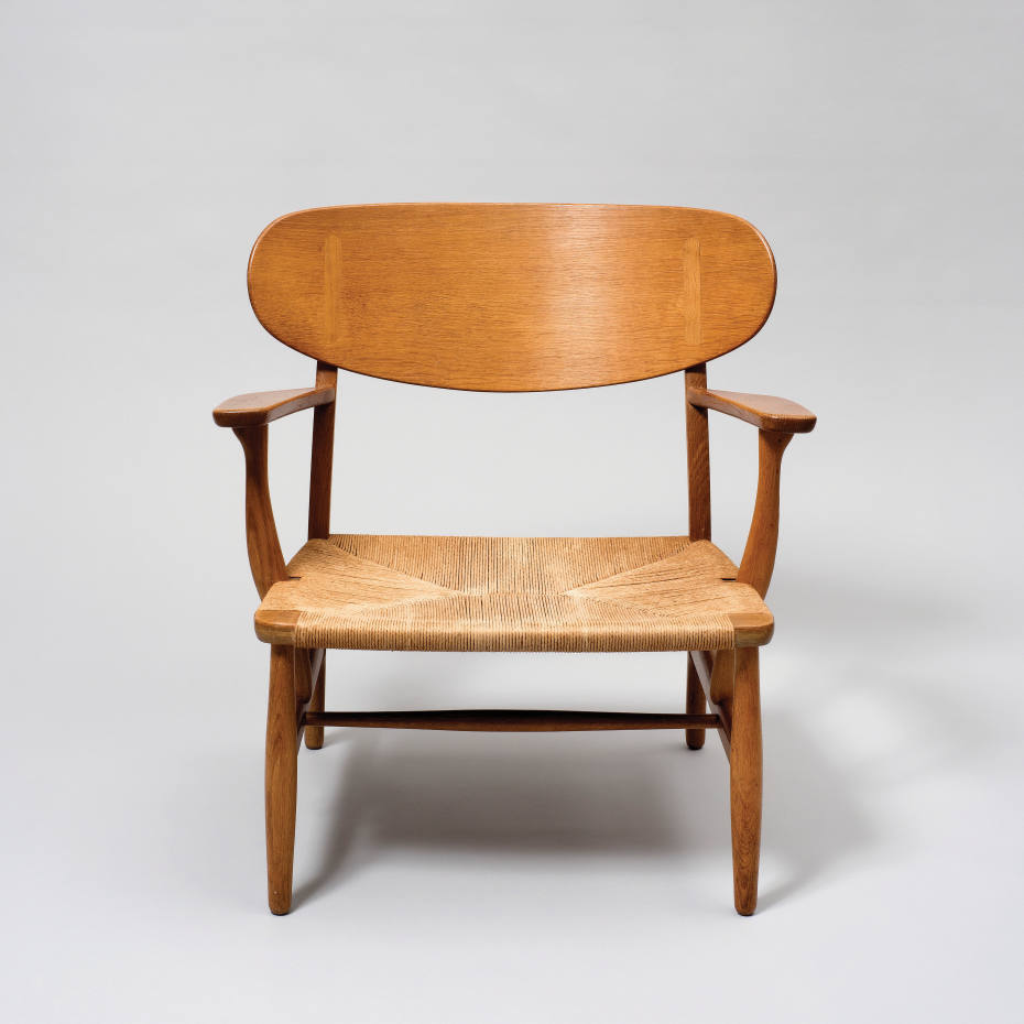 Hans Wegner for Carl Hansen & Søn CH22 lounge chair, 1950, £5,500