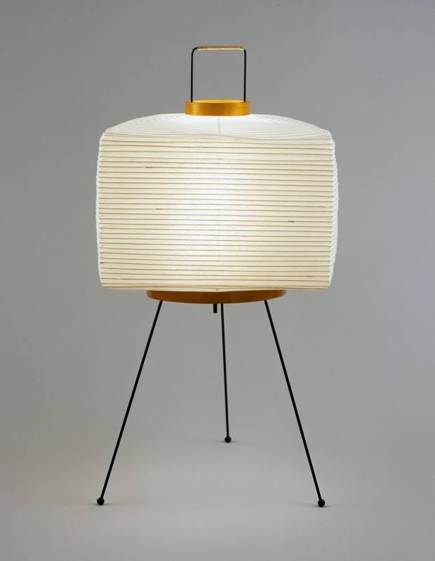 Isamu Noguchi washi‑paper, bamboo and metal Akari light sculpture, $300
