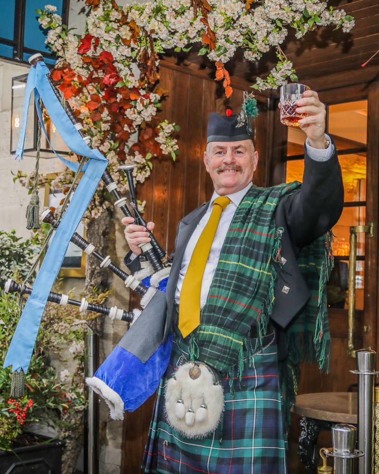 Corrigan's Mayfair's doorman Paddy will play the bagpipes on Burns Night