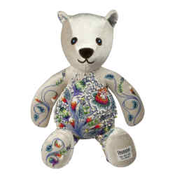 Taunina embroidered floral teddy bear, from £375