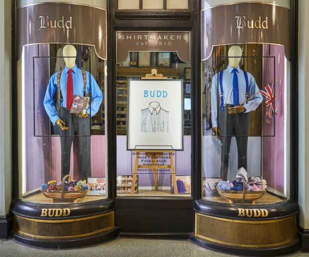 Budd Shirtmakers in Piccadilly Arcade