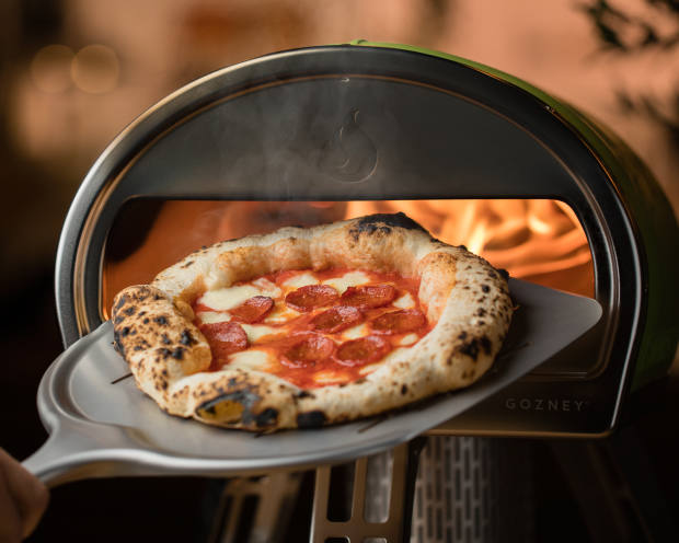 The Roccbox will cook a crisp-based pizza from start to finish in a single minute