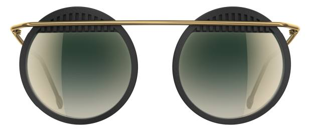Neubau sunglasses, €399: the frames are nat­u­ralPX, an oil extract­ed from cas­tor plant seeds. The case is recy­clable and the clean­ing cloth is made from recy­cled plas­tic bot­tles