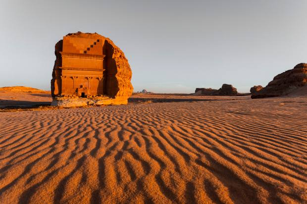 The largest of the Nabatean tombs, Al-Ula
