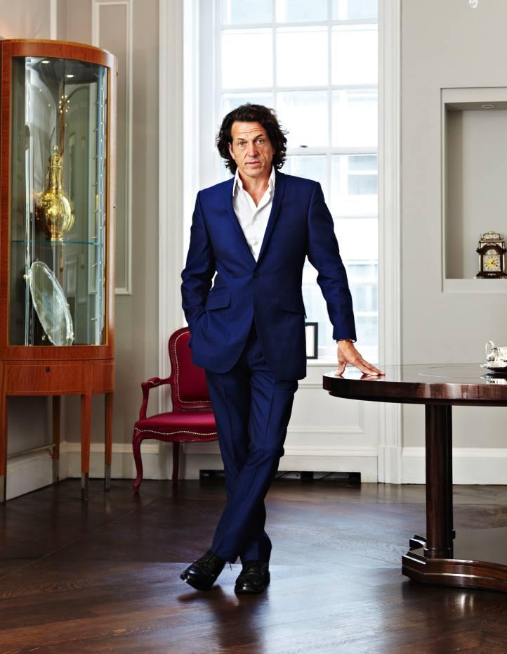 Stephen Webster at Garrard's Grafton Street showroom in London.