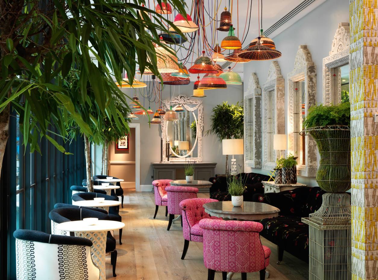 The bar at Ham Yard Hotel, London
