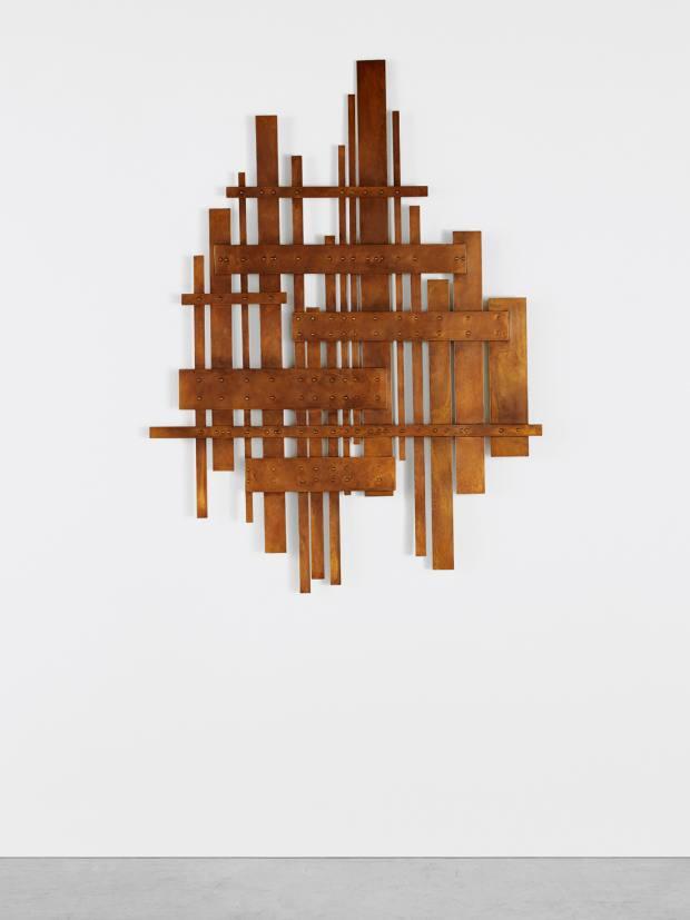 "Martha Sturdy wall sculpture ""Brass Weave 191010"", 2019, $38,000"