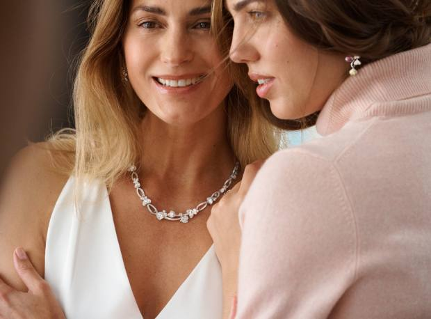 Yasmin and Amber Le Bon wear Chalk Streams