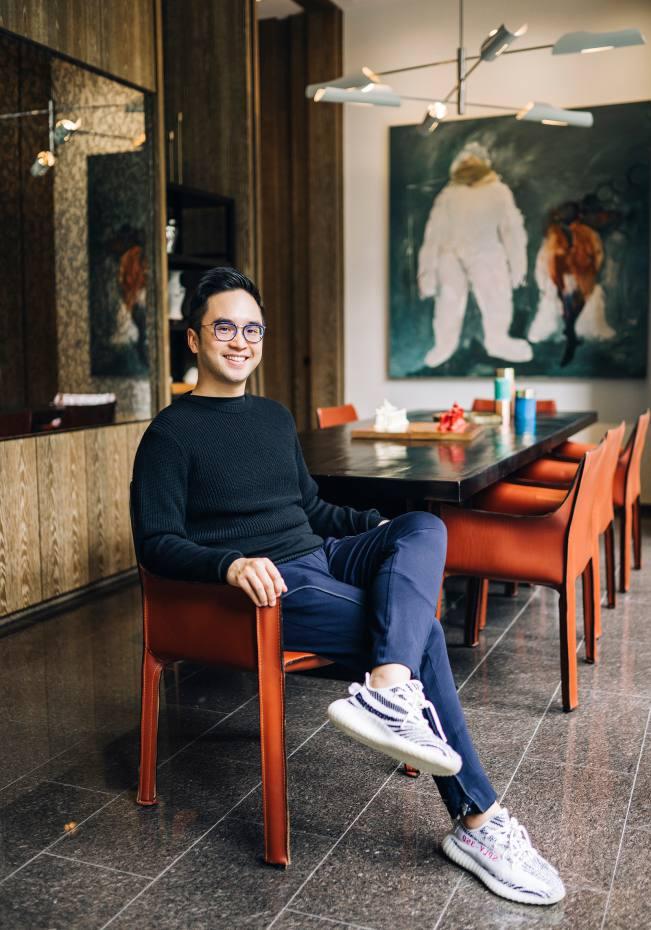 Adrian Cheng at home in Hong Kong
