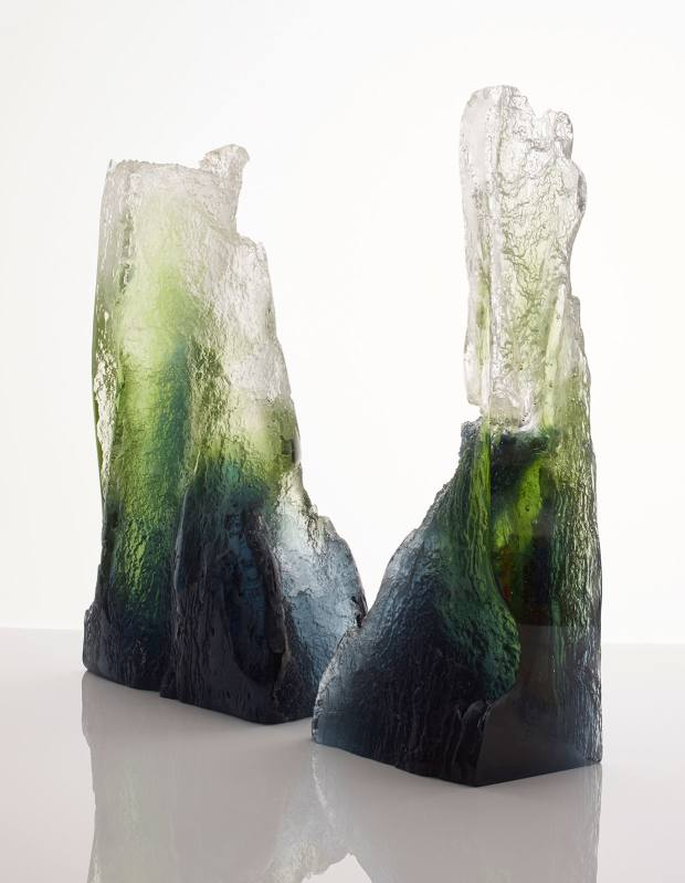 Joseph Harrington Ravine glass sculpture