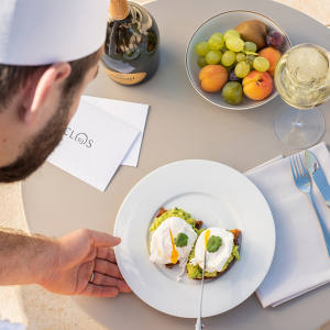 At Royal Champagne Hotel & Spa restaurant chef Jean-Denis Rieubland creates his signature dishes from local ingredients