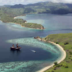 Alila Villas and Resorts' Alila Purnama, a custom-built, 46m phinisi schooner, near Komodo island, Indonesia