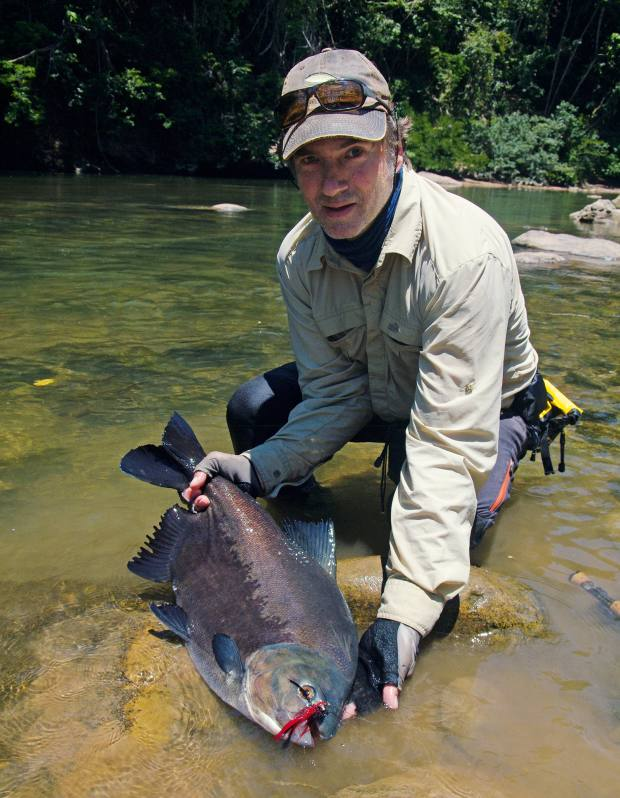 The author with a pacu on the upper Río Sécure