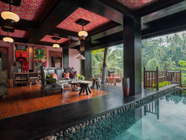 Capella Ubud is set amid lush rainforest
