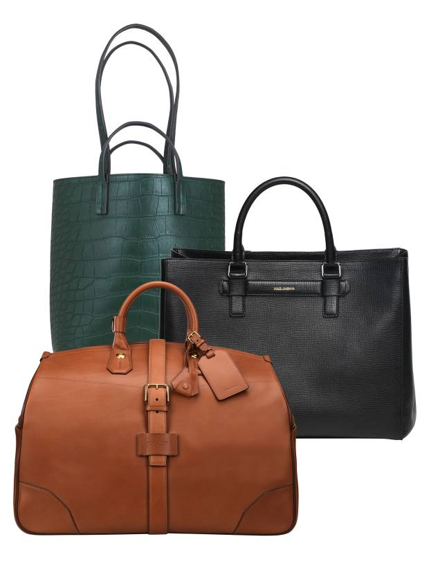 a83fbc432 Clockwise from top left: Moynat crocodile Quattro tote, price on request.  Dolce &