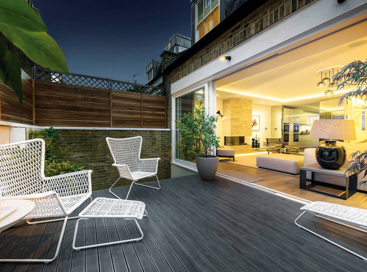 The terrace garden of a four-bedroom house in Queen's Gate Place Mews, Chelsea, £6.95m through Strutt & Parker and Hamptons International