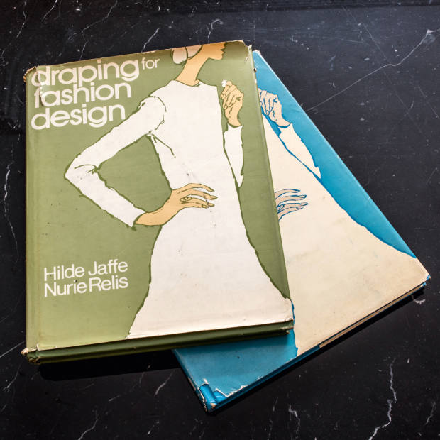 Vintage fashion teaching books from the 1970s