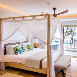 A bedroom at the reopened Hemingways Watamu in Kenya