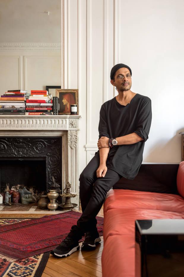 Ramesh Nair at home in Paris