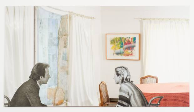 In the dining room an early Michelangelo Pistoletto work features photographs ofthe Brignones applied toa mirror