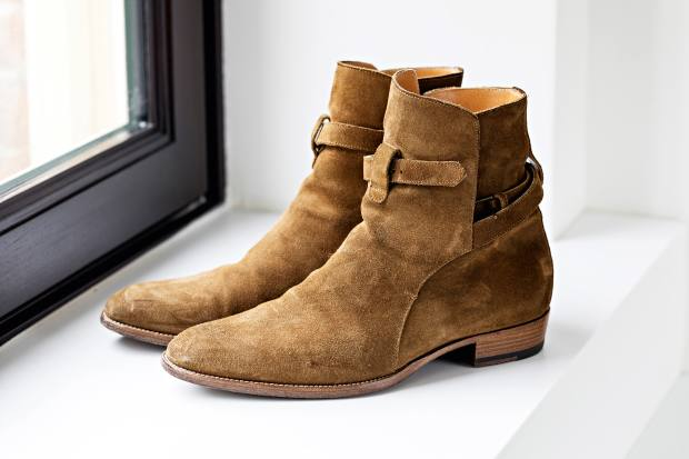 Hennessy's Saint Laurent boots