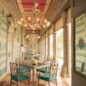 The restaurant at Suján Rajmahal Palace, Jaipur