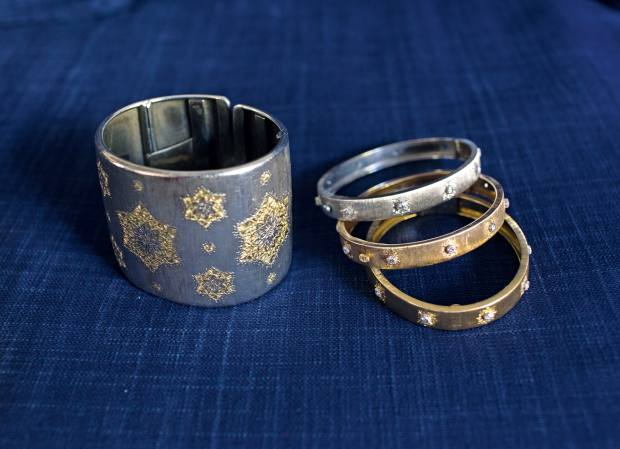 Zeller's Buccellati cuff and gold bracelets, from £6,200