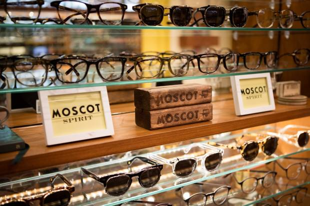 The Moscot boutique in Soho
