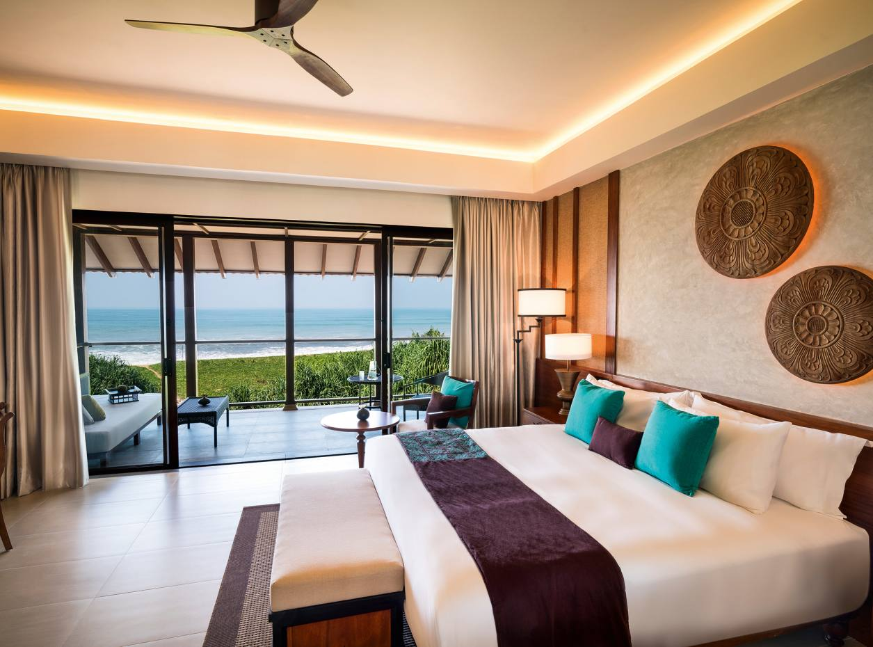 A deluxe ocean‑view room at Anantara Kalutara Resort, Sri Lanka
