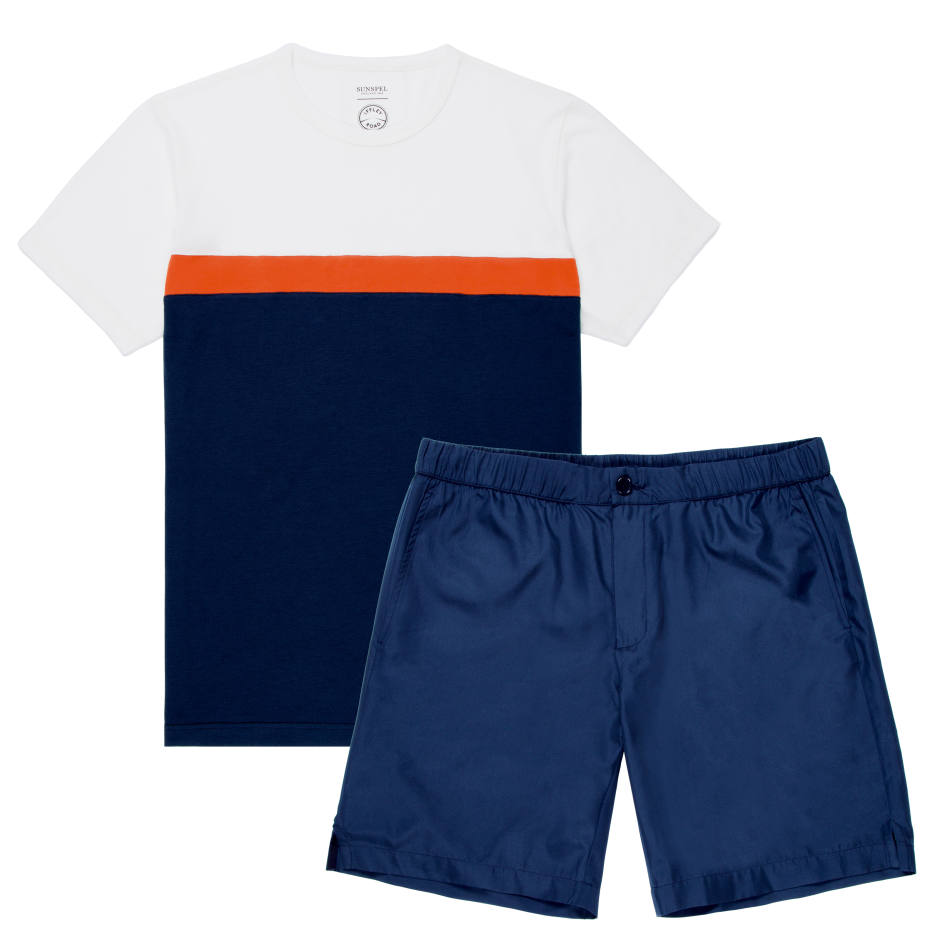 Trent shorts, £95, and Langley tee, £75