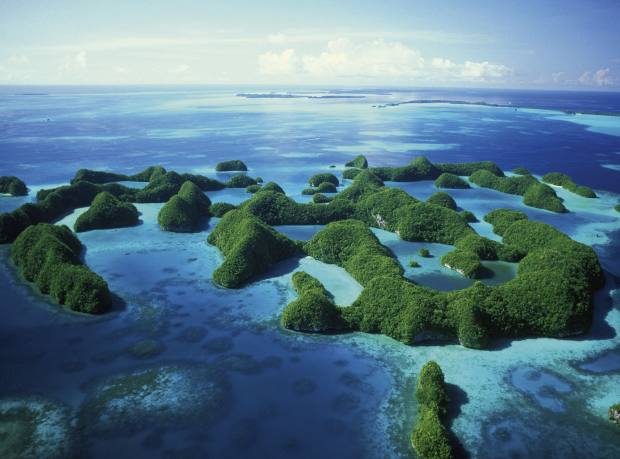 Palau in the South Pacific Ocean