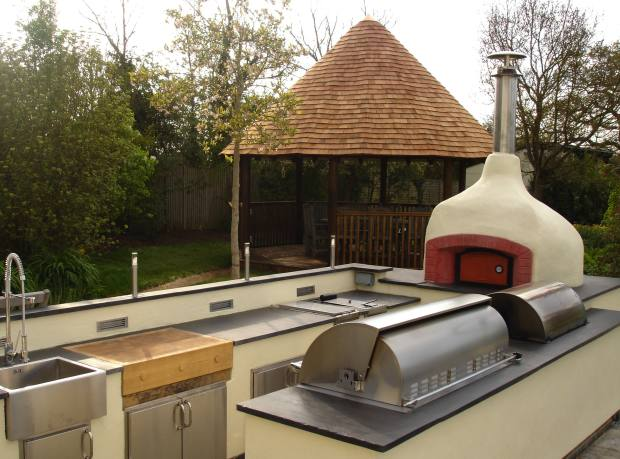 A grill and wood-fired oven ensemble in Berkshire by The Lapa Company, price on request.