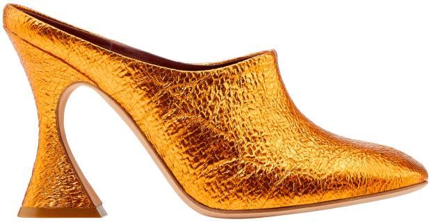 Sies Marjan metallic Louis-heel mules, £495
