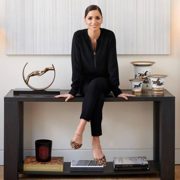 Jennifer Chamandi at home in London