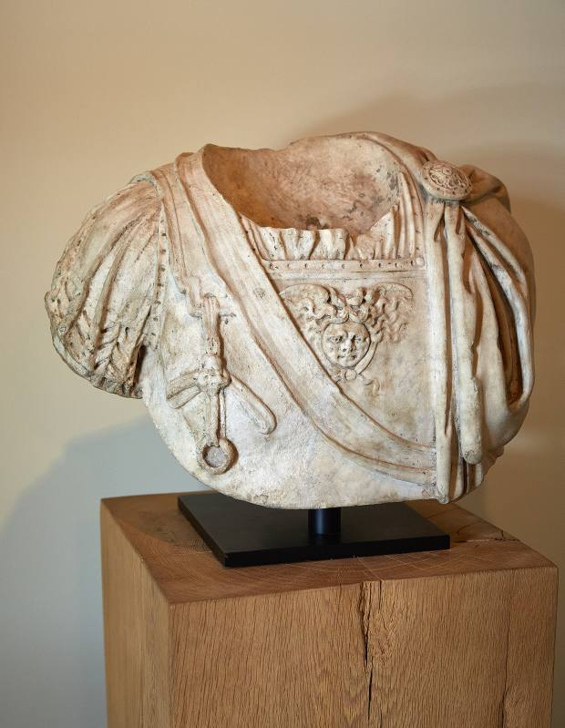 Maier's Roman marble bust of an armoured breastplate